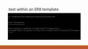 introduction to chef With chef template variables