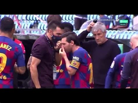 New footage shows Lionel Messi openly IGNORING Barcelona ...