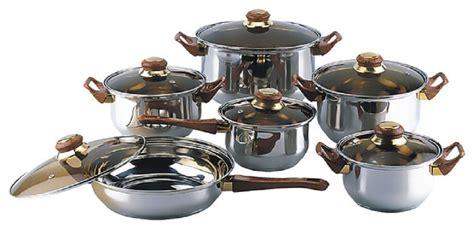 pots pans cookware chef stainless steel gourmet kitchen covered piece cooking lids nonstick maitre garden deals cheap