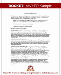 sales commission agreement template form with sample With sales commission letter template
