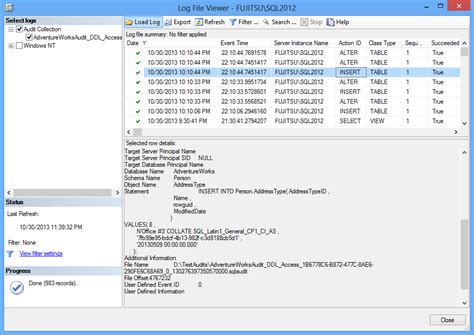 audit log how to analyze and read sql server audit information