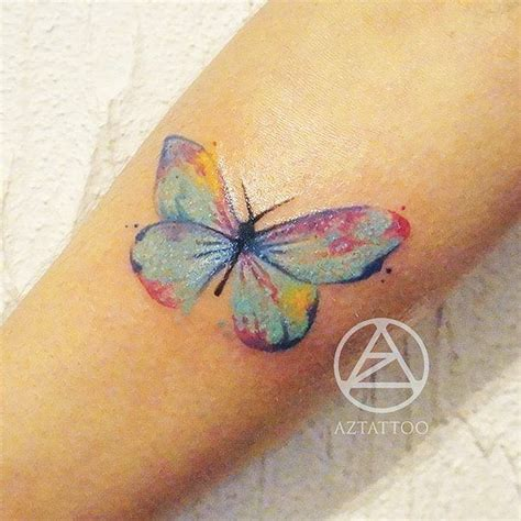 small colorful butterfly tattoos  small ideas