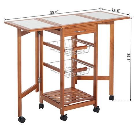 portable kitchen island with drop leaf portable rolling drop leaf kitchen storage tile top island