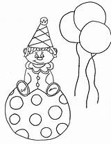 Coloring Clown Face Printable Happy Sad Craft Template Ball Bestcoloringpagesforkids Templates sketch template