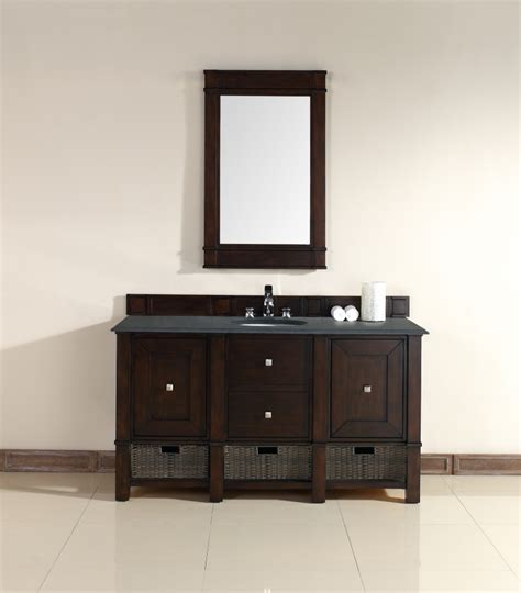 Single Sink Bathroom Vanity 60 Inch by 60 Inch Single Sink Bathroom Vanity In Burnished Mahogany