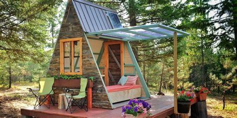 couple built  tiny  frame home