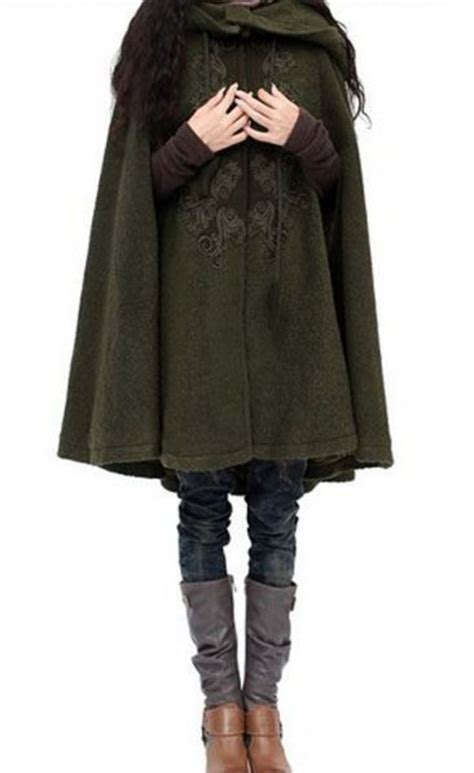 coat green elvish grunge hipster cloak fashion cute