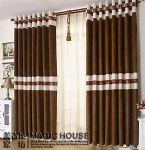Free shipping home design chenille stitching living room for Curtains for bedroom windows with designs 2015