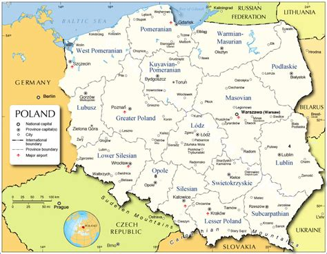 administrative map  poland nations  project