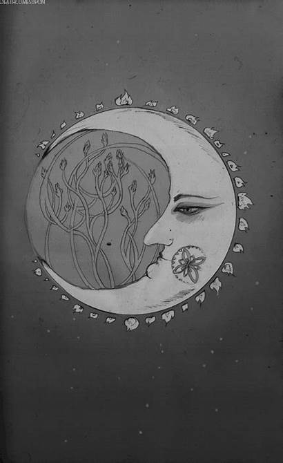 Moon Crescent Drawing Face Sun Stars Google