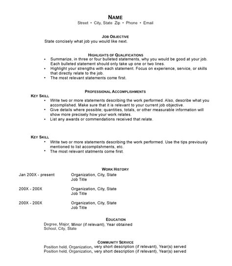 functional resumes sle templates and exles