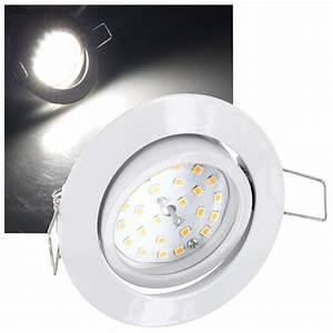 Led Spot 230v : led spot einbaustrahler 5w 230v dimmbar schwenkbar einbauleuchte edelstahl ebay ~ Watch28wear.com Haus und Dekorationen