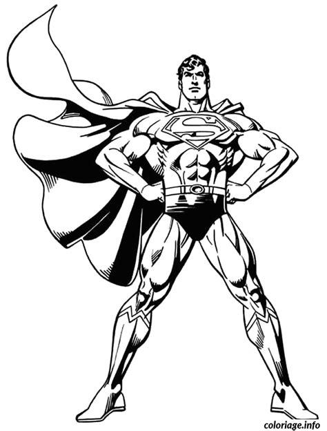 coloriage superman avec sa cape au vent dessin