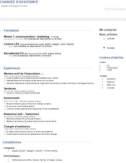 Exemple De Cv Pour Emploi by Exemple Cv Emploi Guide Cv Moto Bip