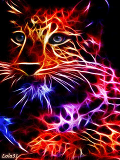 colorful neon leopard mobile screensavers