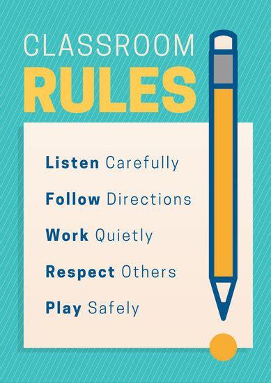 customize  classroom poster templates  canva