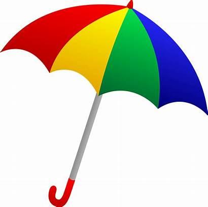 Umbrella Colorful Clip Rain Rainy Sweetclipart