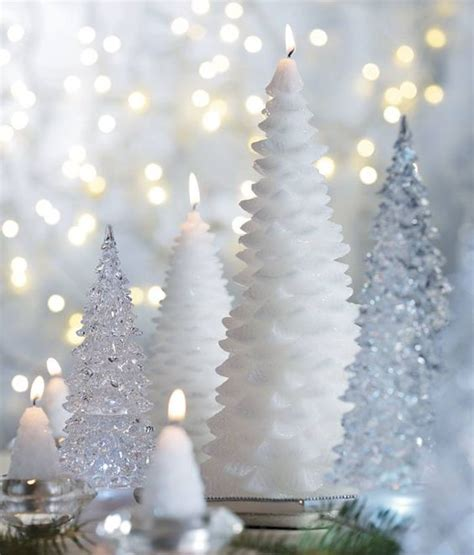 silver christmas candles 23 candle d 233 cor and display ideas shelterness