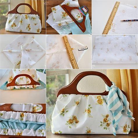wonderful diy easy wood handle handbag