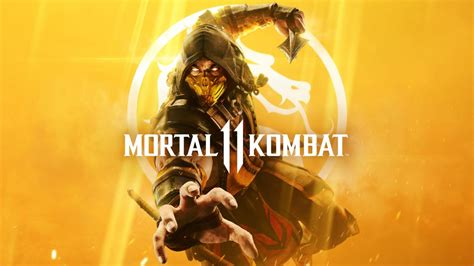 wallpaper mortal kombat  scorpion cover art