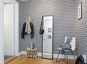 papiers peints pour une entree noir blanc blog au fil With couleur pour un salon 2 papiers peints pour une chambre scandinave blog au fil
