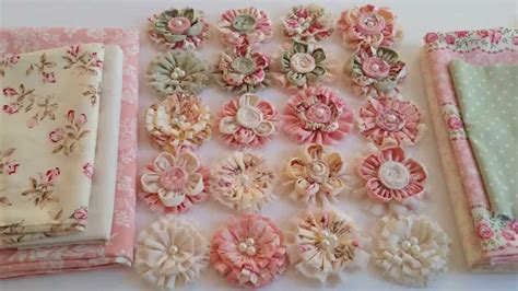 shabby fabric tutorial gorgeous shabby chic fabric flowers youtube