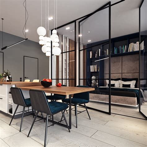 3 Modern Apartments With Chic Rooms For The by Beautiful Studio Apartment Designs Combined With Modern