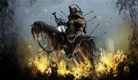 apocalypse horsemen horseman horse fantasy background fire four horror weapons second revelations dark revelation reaper bible artwork sword religion wallpapers