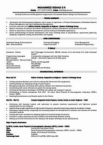 electronics engineer resume foramt With electronic resume