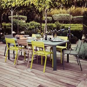 Mobilier De Jardin Fermob : salon de jardin fermob ol ron table 6 chaises 2 fauteuils gamm vert ~ Dallasstarsshop.com Idées de Décoration