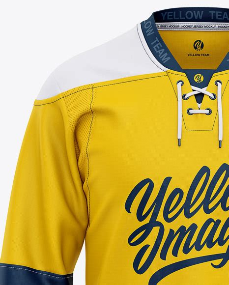 Inspirational designs, illustrations, and graphic elements from the world's best designers. Men's Lace Neck Hockey Jersey Mockup - Front View in ...