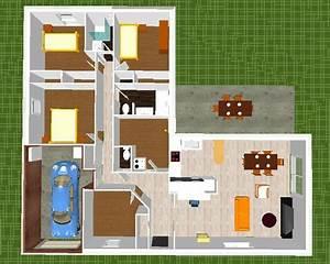 Maison 120m2 Plain Pied : 120m2 plain pied en l bbc parasismique 4 ch cuisine ouverte 134 messages page 5 ~ Melissatoandfro.com Idées de Décoration