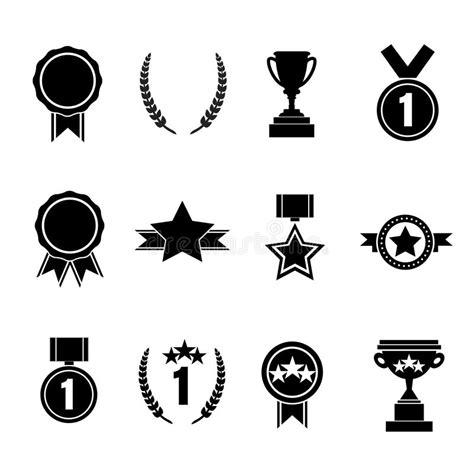 14764 award ribbon icon vector set of flat vector award vector illustration stock vector