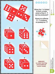 Visual Math Puzzle With Red Dice Cubes Royalty Free Stock ...
