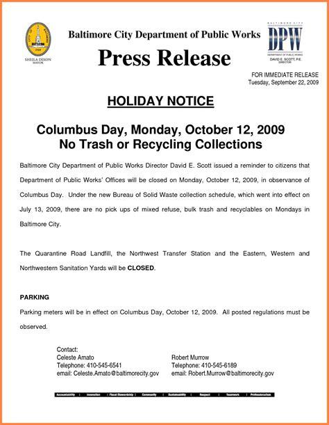 closure notice sample notice letter