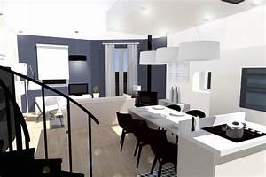 impressionnant amenagement salon cuisine luxe design a With amenagement salon cuisine 30m2