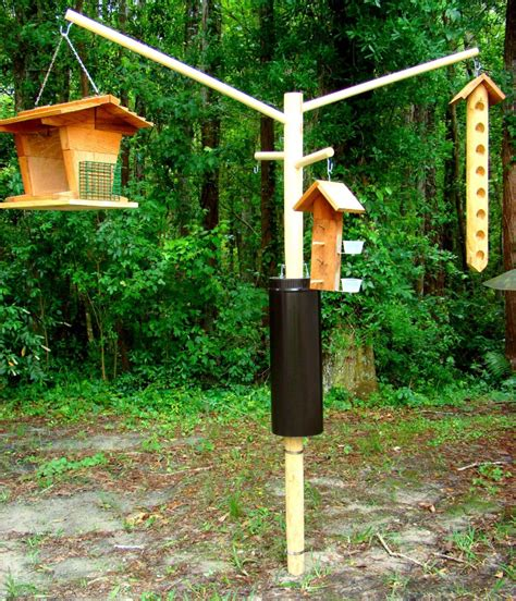 bird feeder poles wooden bird feeder pole systems birdcage design ideas