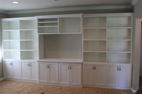 Family Room Wall Unit In White