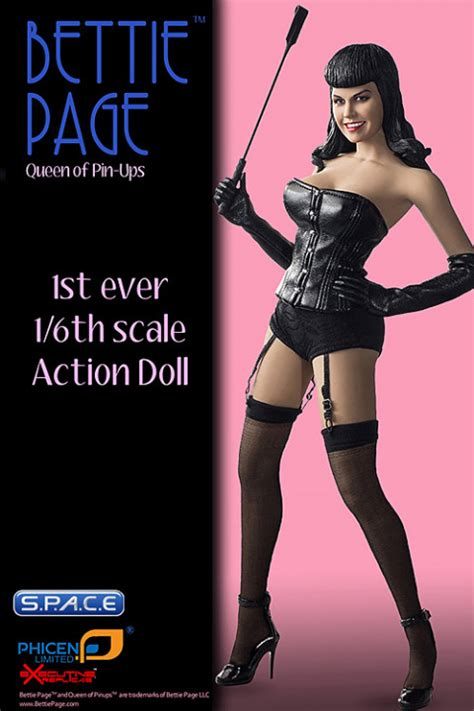 scale bettie page action doll space space