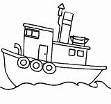 Boat Coloring Fishing Ferry Drawing Tugboat Sea Boats Printable Sail Getcolorings Getdrawings Paper Button Using Sun sketch template