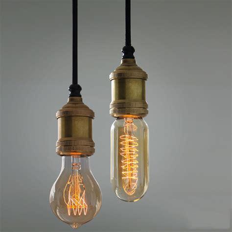 hanging light bulbs solitaire bronze bare edison bulb pendant light tudo and
