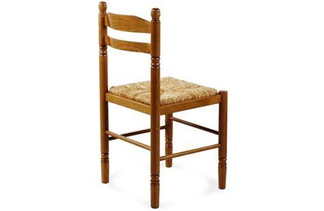 chaise bois paille chaise de cuisine jeanne
