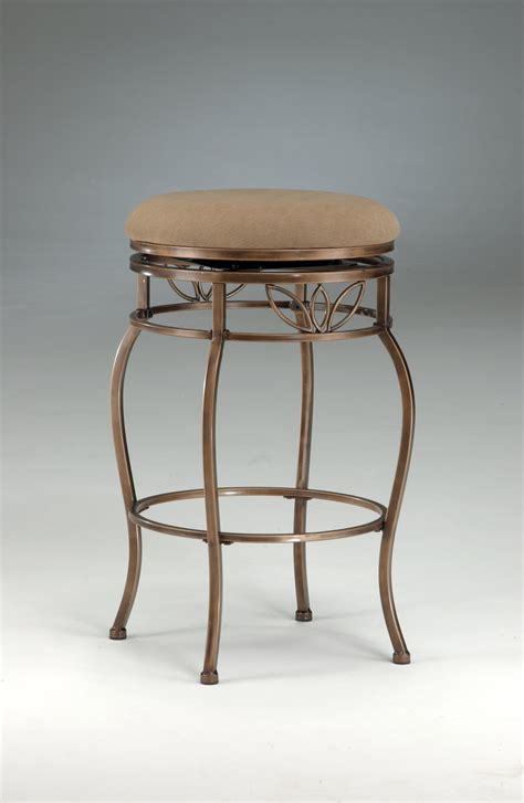 backless counter stools backless brown rust counter height swivel barstool 1419