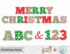 Numero de noel alphabet numerique clip art rouge vert couleur for Merry christmas letter stencils