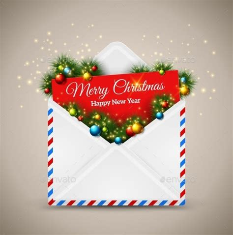 christmas envelope templates  psd eps ai