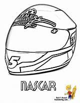 Coloring Nascar Helmet Yescoloring Template Kasey Sketch Kahne Boys Racer Credit Larger sketch template