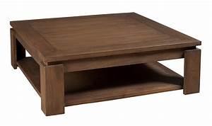 Table Basse Carrée En Bois : table basse carr e style ethnique en bois exotique 90 x 90 ~ Teatrodelosmanantiales.com Idées de Décoration