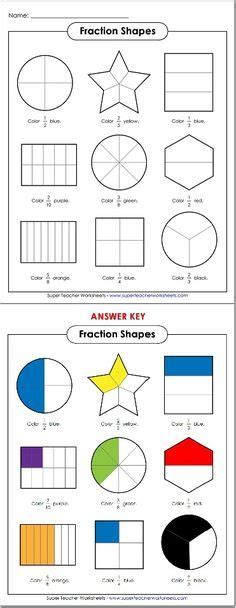 fractions quiz 1st grade math pinterest math fractions and worksheets