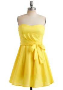 gallery for gt yellow strapless bridesmaid dresses