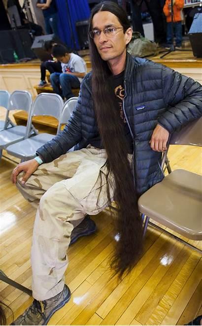 Hair Longest Contest Winslow Navajo Elks Nations